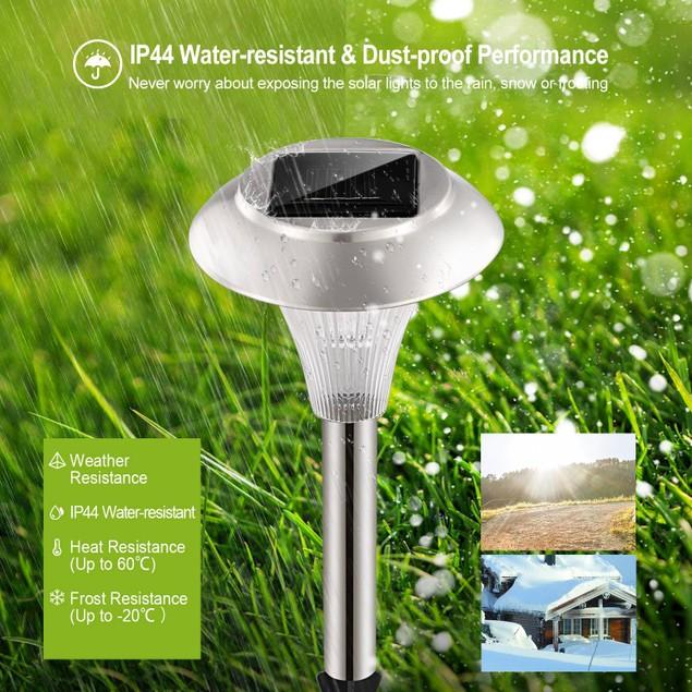 24Packs Solar Garden Lights Outdoor IP44 Waterproof Solar Pathway Lights