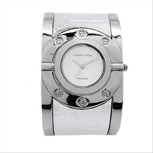 Charles Delon Women Watches 4334 LPWW Silver/White/Silver Stainless Steel Quartz