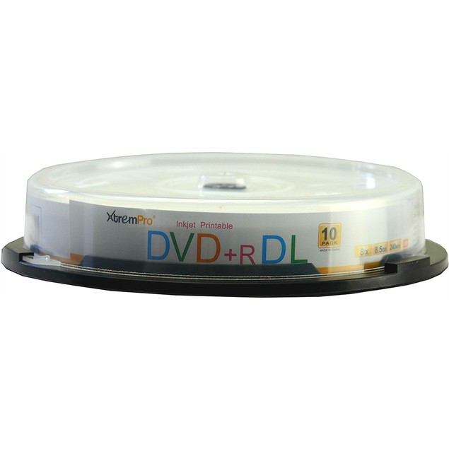 DVD+R DL 8X 8.5GB 240Min Double Layer DVD 10 Pack Blank Discs in Spindle