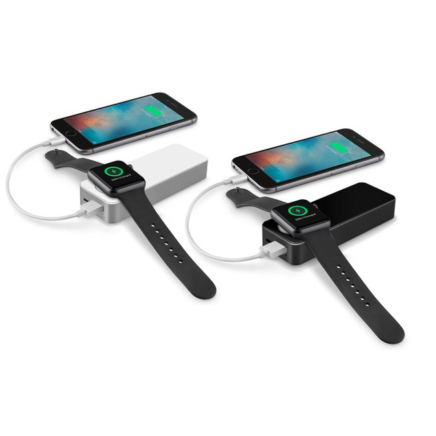 Zummy Dual 5200 mAh Power Bank for iPhones with Built-In Apple Watch Charge