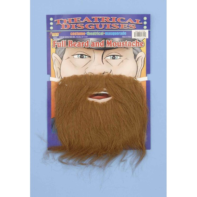 Brown Beard and Mustache Costume Accessory Alan Garner Hangover 1 2 3 Zach