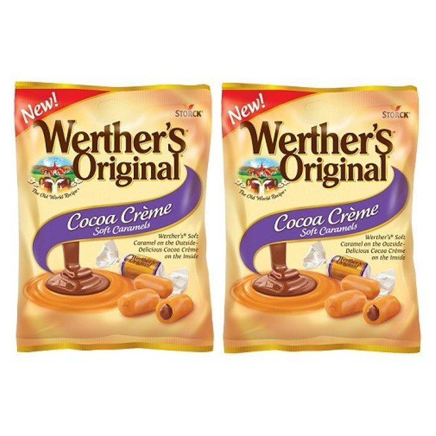 Werther's Original Cocoa Creme Soft Caramels 2 Bag Pack