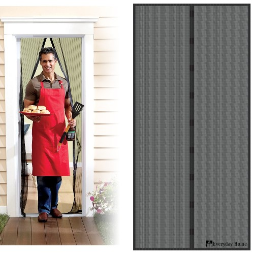 Magnetic Screen Door with Heavy Duty Magnets and Mesh Curtain