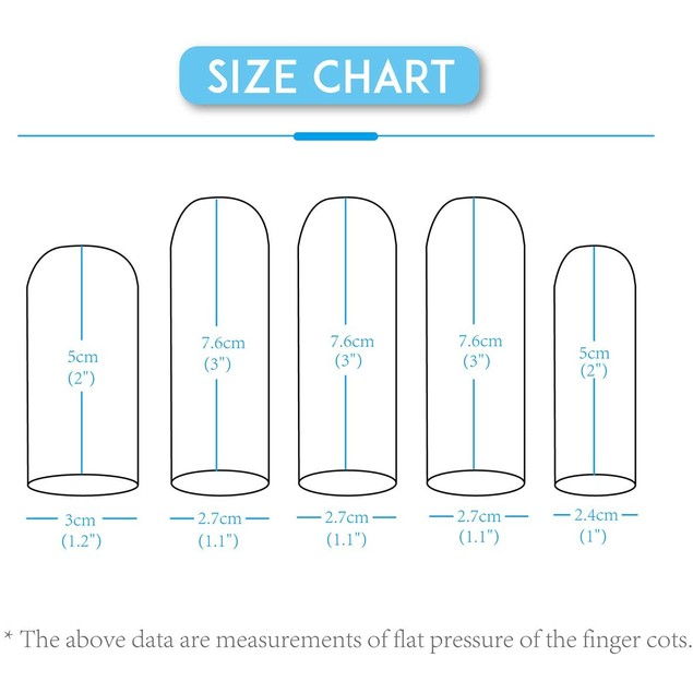 Touchscreen Cotton Finger Cots for Fingers Thumb Protection