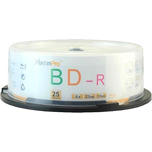 BD-R 6X 25GB 135Min Blu-Ray 25 Pack Blank Discs in Spindle