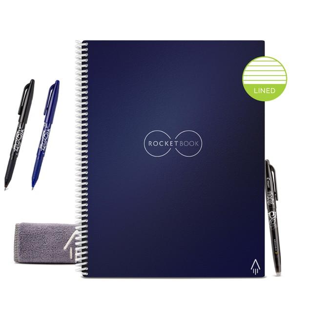 Rocketbook Smart Reusable Core Notebook Bundle (Lined Eco-Friendly)