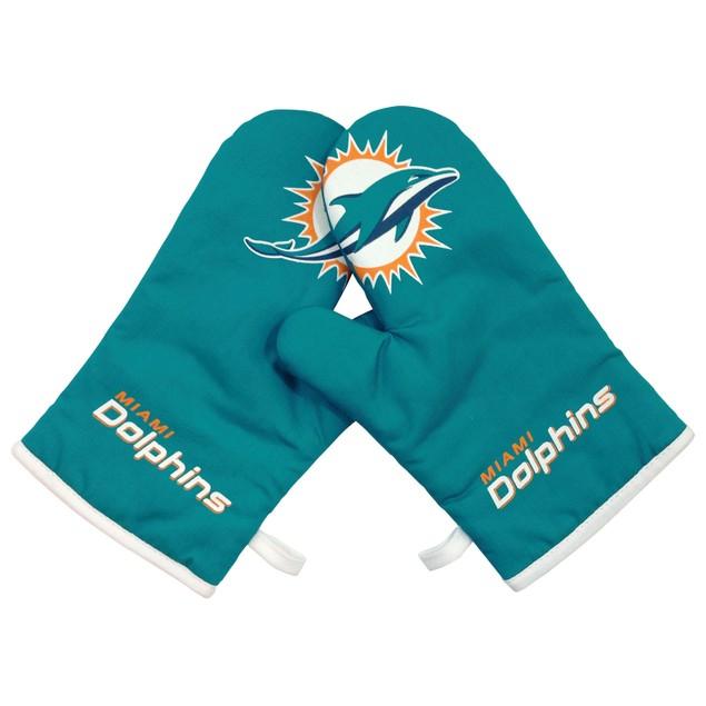 Miami Dolphins NFL Oven Cross Mitt Gloves