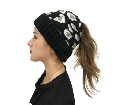 Female Leopard Print Warmth Can Be Braided Hat Was: $25.99 Now: $12.99.