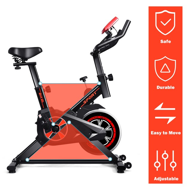 Costway Indoor Cycling Exercise Bike with LCD Display