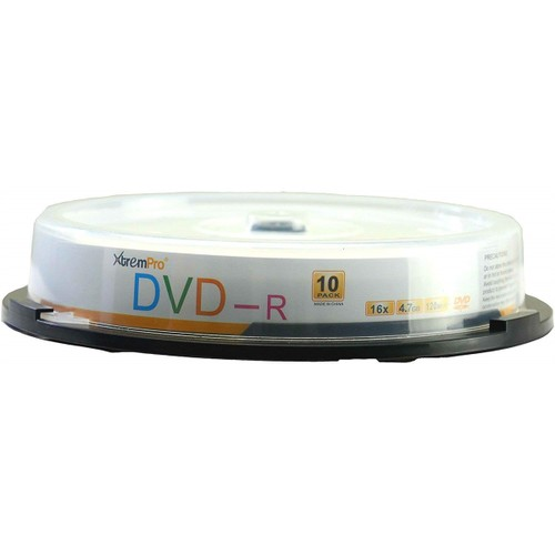 DVD-R 16X 4.7GB 120Min DVD 10 Pack Blank Discs in Spindle
