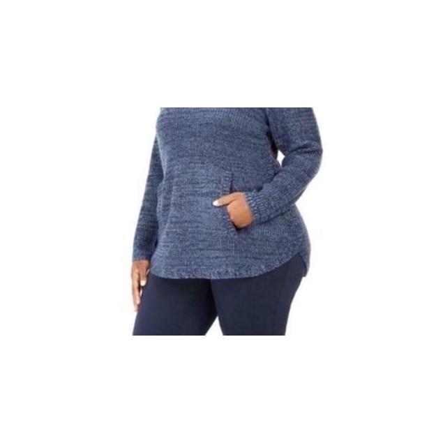 Style & Co Women's Button Trim Sweater Blue Size 1X
