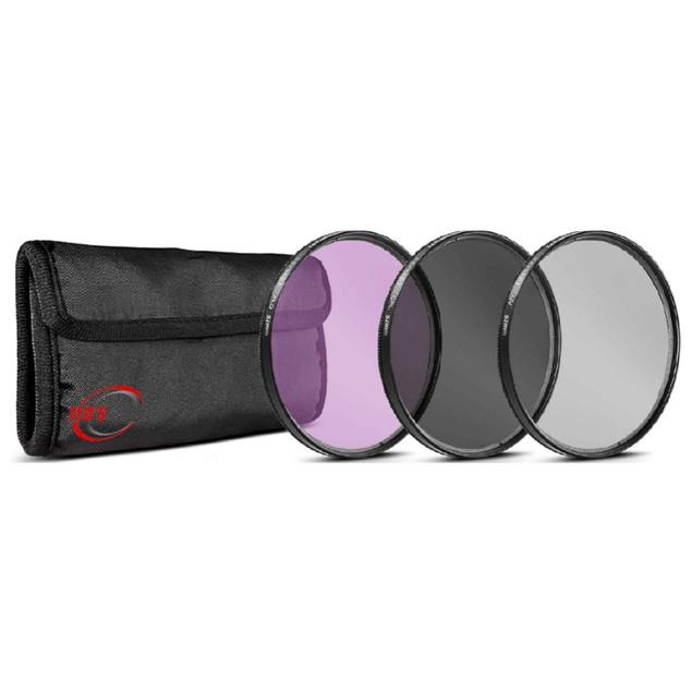 NEW Vivitar 3-Pcs HD UV Polarizer & FLD Filter Kit for FujiFilm X-E3 (58mm Compatible)