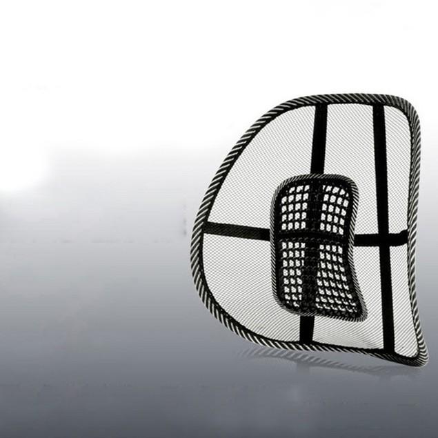 Black Mesh Lumbar Back Brace Support Office Home Car Seat Chair Cushion