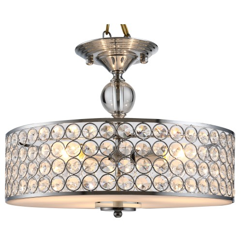 Ceiling Light Fixture Crystal and Acrylic Dodging Board w/Metal Base