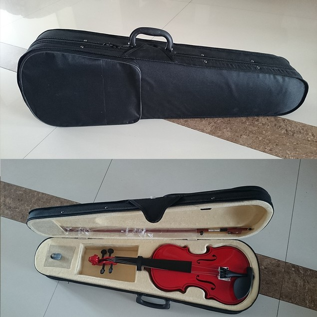 Student Acoustic Violin Full 4/4 Maple Spruce with Case Bow Rosin Red