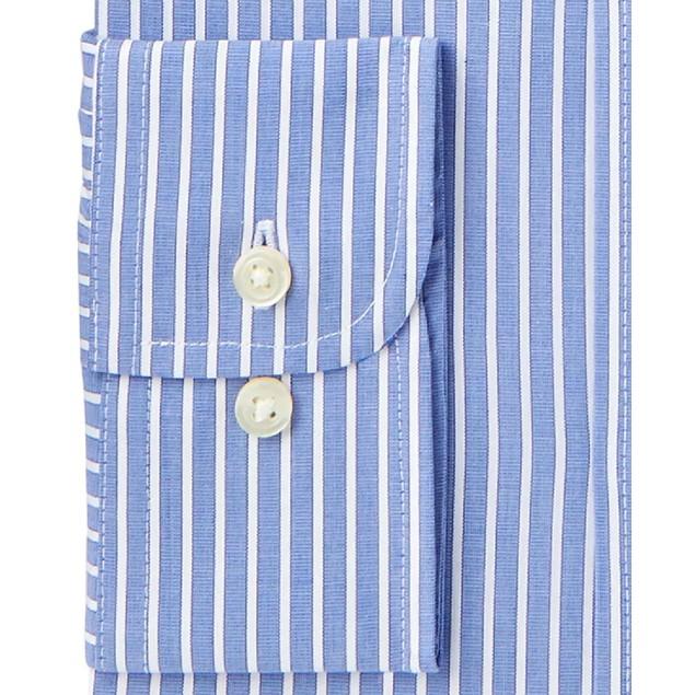Club Room  Performance Wrinkle-Resistant Striped Dress Shirt Blue 18x36-37