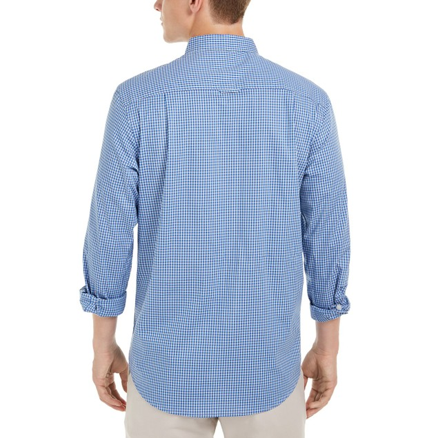 Club Room Men's Micro Check Shirt Navy Size Medium