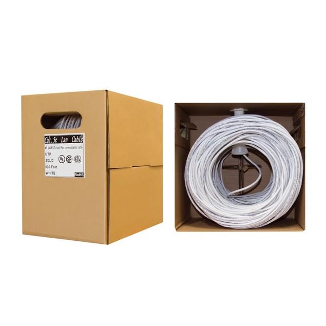 Bulk Cat5e Ethernet Cable,  UTP (Unshielded Twisted Pair), 500 foot