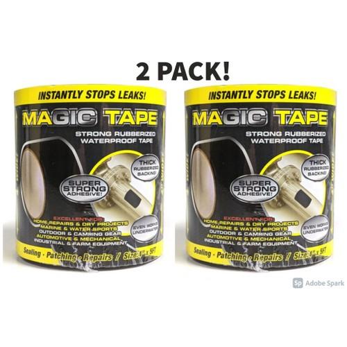 2 Pack Rubberized Waterproof Magic Tape