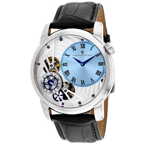 Christian Van Sant Men's Sprocket Auto-Quartz Blue Dial Watch - CV1543