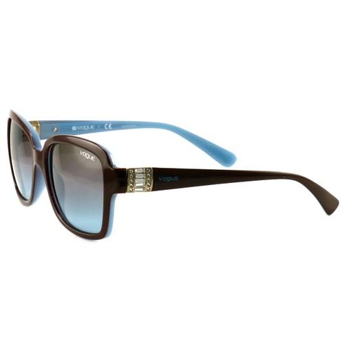 Vogue Sunglasses VO2942 2011/48 Brown/Blue/Blue Gradient Plastic 55 17 135