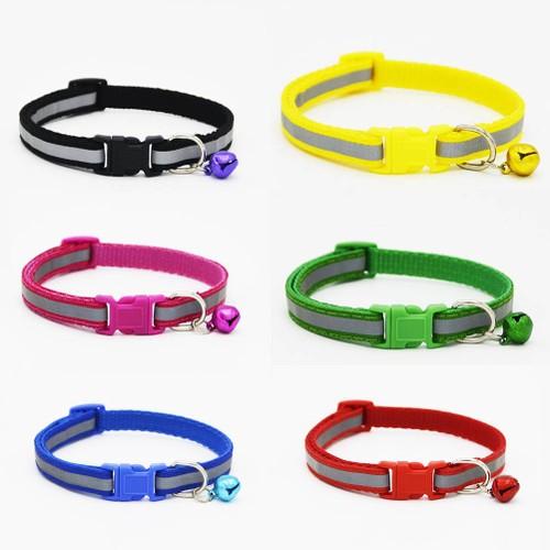 2 Pack Adjustable Safety Nylon Dog Cat Reflective Collar