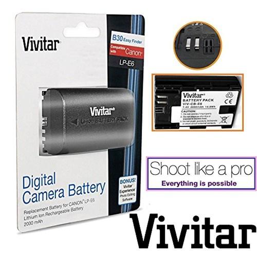 Hi-Cap LP-E6 Battery For Canon EOS 6D 60D 7D Mark II 70D 5D Mark III Mark II