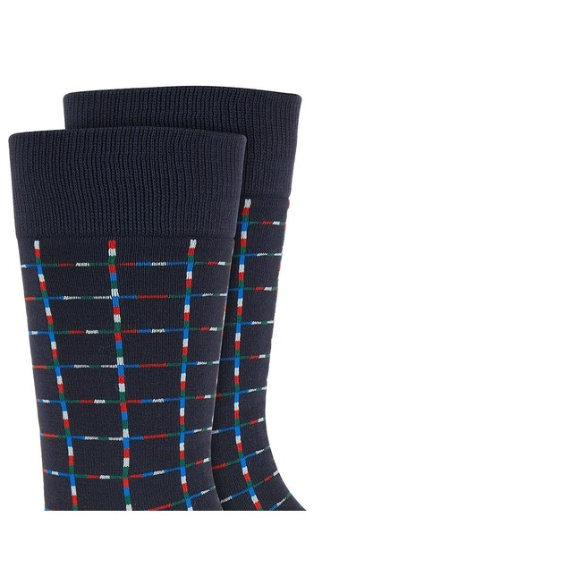 Alfani Men's Pixel Windowpane Socks Blue Size Regular