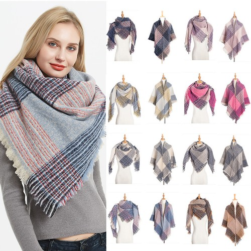 Thickened Double-Sided Plaid Square Scarf Ladies Scarf Shawl