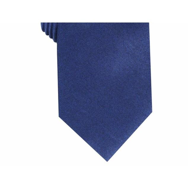Perry Ellis Men's Vandorn Metallic Solid Tie Navy Size Regular