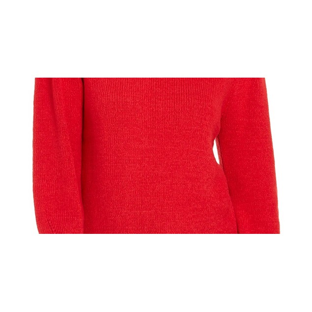 Style & Co Women's Puffy Sleeve Sweater Dark Red Size Large
