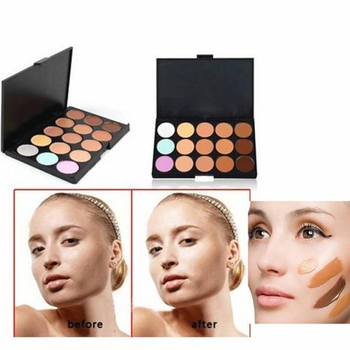 15 Colors Contour Concealer Face Cream Makeup Palette Professional + SPONGE