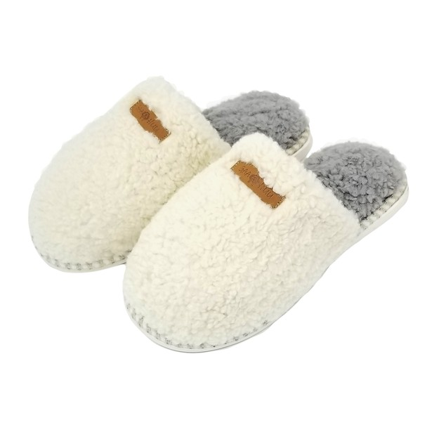 Gaahuu Womens Berber Scuff Slipper With Memory Foam And Indoor/Outdoor Sole