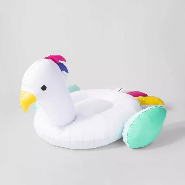Sun Squad Cockatoo Pool Float, Bird-Shaped Pool Float w/ a Fun Design,