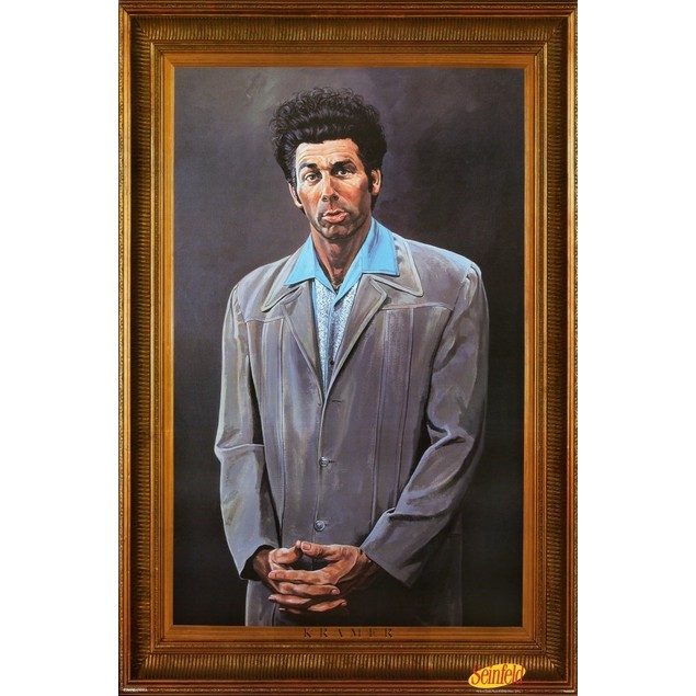 "Kramer Seinfeld Poster Cosmo Wall Art 24"" x 36"" Painting Gift TV Show Prop"