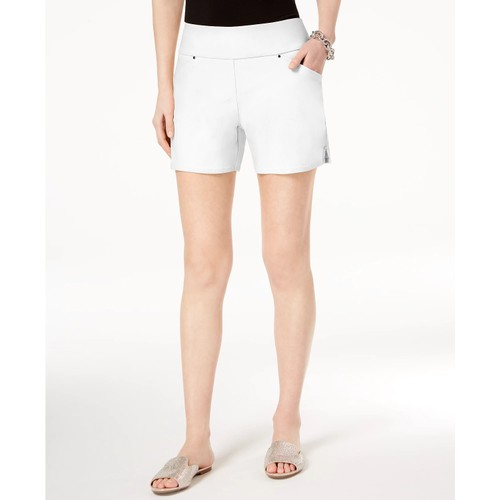 INC International Concepts Women's Curvy Pull On Shorts White Size 18
