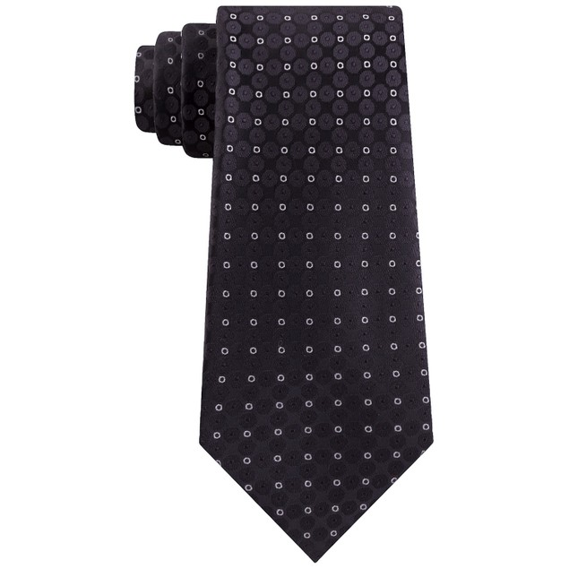 Kenneth Cole Reaction Men's Mosaic Slim Geo Tie Black Size Regular