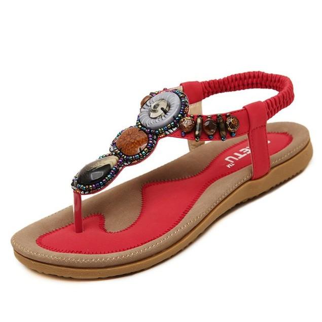 Comfy sandals - Simple Bohemia Herringbone Sandals