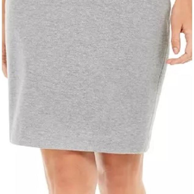 Calvin Klein Women's Zip-Pocket Pencil Skirt Silver Size 16