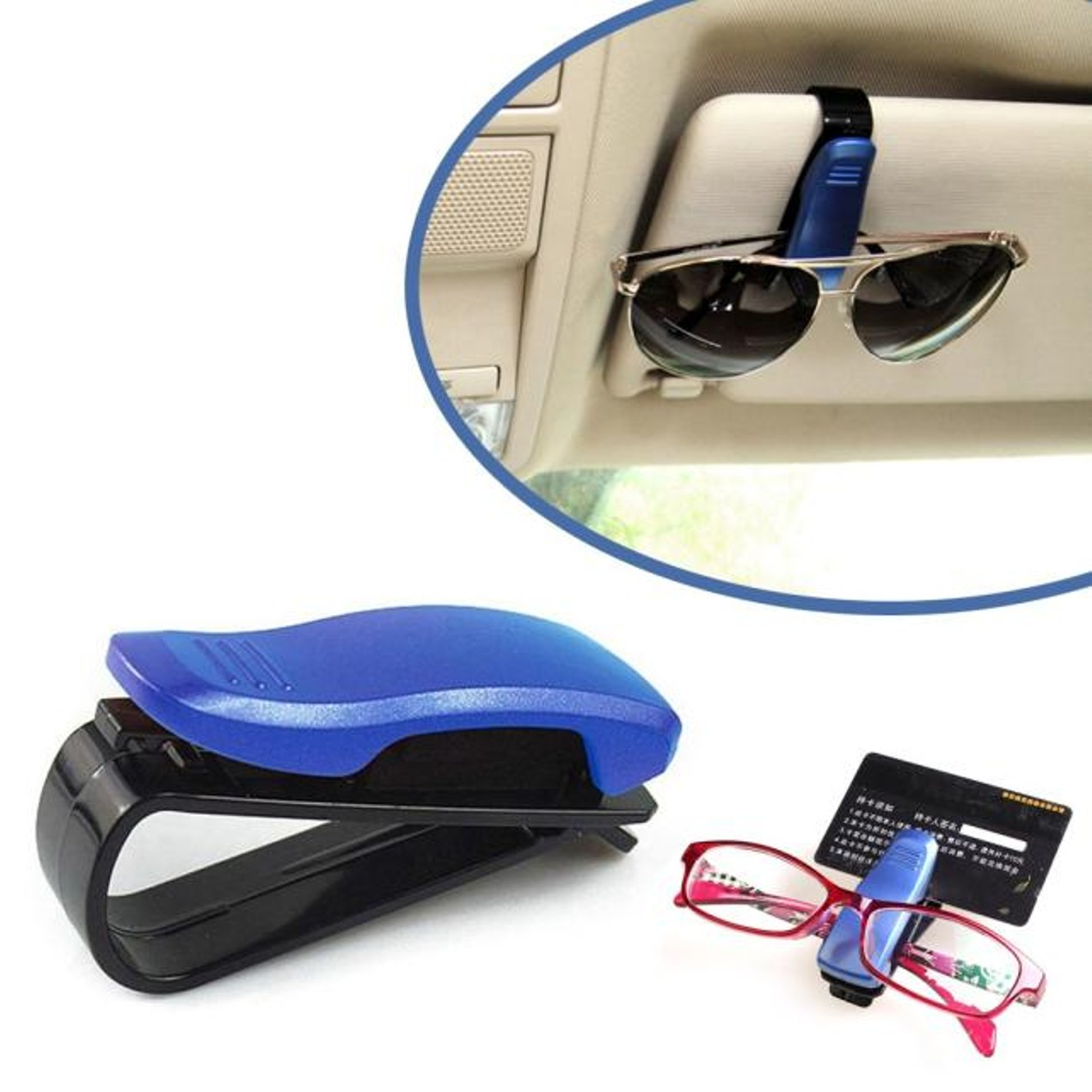 e3361295b5e Car Sun Visor Glasses Sunglasses Ticket Receipt Card Clip Storage Holder ...