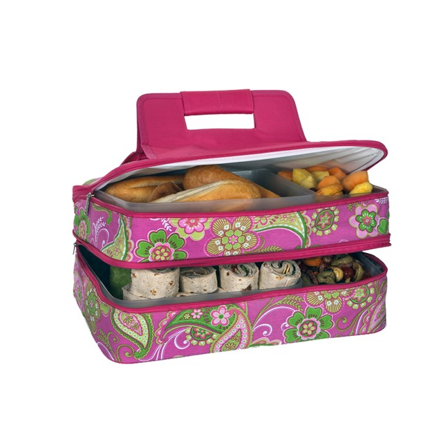 Picnic Plus Entertainer Hot & Cold Food Carrier Pink Desire