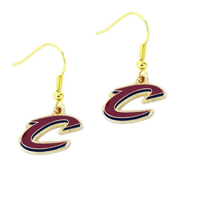 Cleveland Cavaliers Logo Dangle Earrings NBA Charm Gift