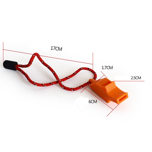 Dolphin Shape Safety Whistle Outdoor Camping Hiking Boating Tool With Rope