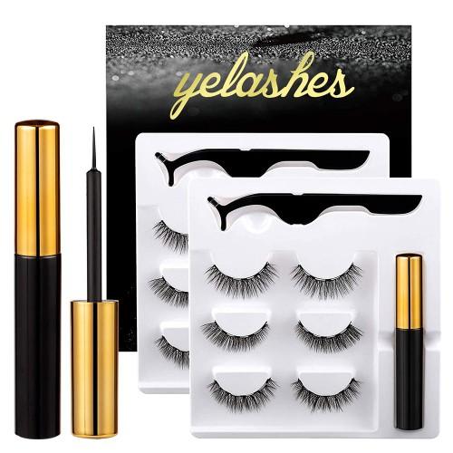 6 Pairs Magnetic Eyelashes Magnetic Eyeliner Kit Natural Magnetic Eyelashes