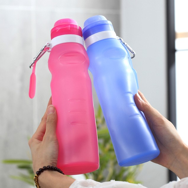 Silicone Folding Water Cup Cycling Mountaineering Sports Bottle Gift Outdoor Travel Portable Cycling