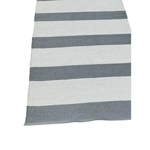 Spura Home Outdoor Reversible Oriental Blue Striped Runner Rug 2.5x6