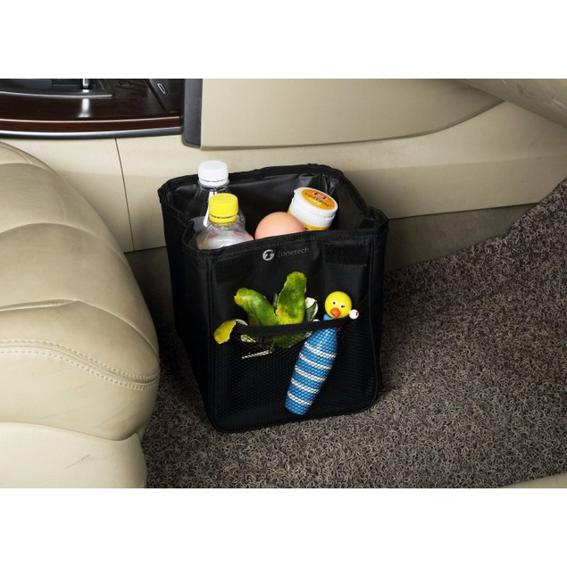Zone Tech Traveling Car Trash Can Compact Leak-Proof WaterProof Litter Bag