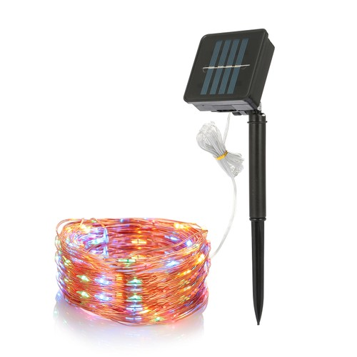 100 LEDs Solar String Lights Outdoor IP65 Waterproof Copper Wire String Lights