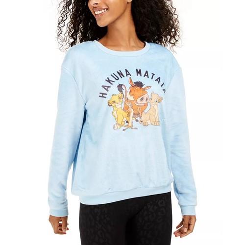 Disney Junior's Hakuna Matata Plush Sweatshirt Navy Size Large