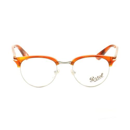 Persol Terra Di Siena Eyeglasses PS8129V 96 Brown/Silver 48 20 145 Demo Lens
